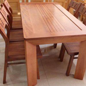 2 mẫu bàn ghế ăn gỗ tự nhiên đẹp Hot nhất GHT-476