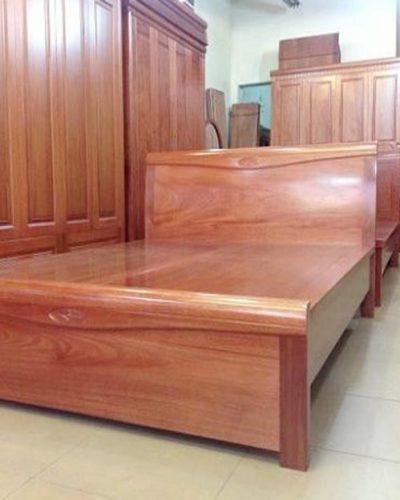 7 mẫu giường ngủ đẹp gỗ tự nhiên giá rẻ mã GHT-917