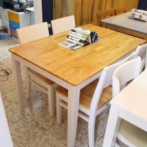 Bàn ăn gỗ 4 ghế cherry cao cấp cho phòng bếp GHT-405