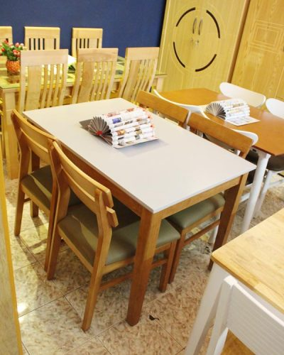Bàn ăn đẹp 4 ghế GHT-404 cao cấp xuất khẩu
