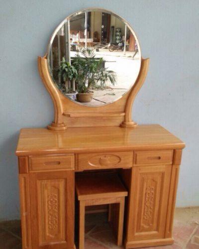 Bàn phấn trang điểm làm từ gỗ tự nhiên đẹp GHT-432