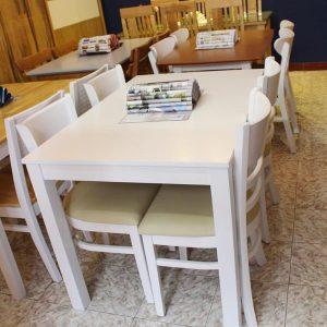 Bộ bàn ăn làm từ gỗ tự nhiên 1 bàn 4 ghế GHT-414