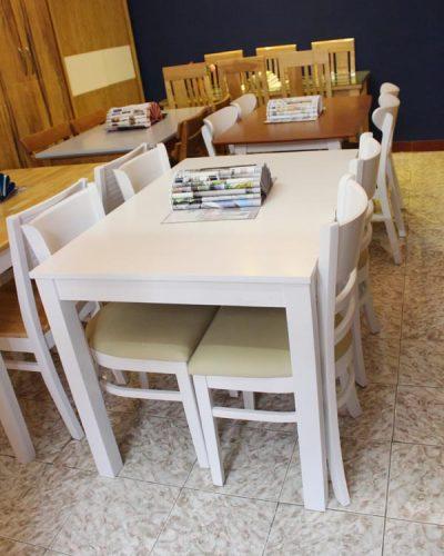 Bộ bàn ăn 4 ghế gỗ tự nhiên GHT-414