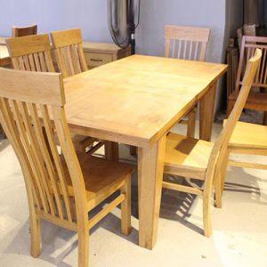 Bộ bàn ăn gỗ tự nhiên dành cho gia đình GHT-408