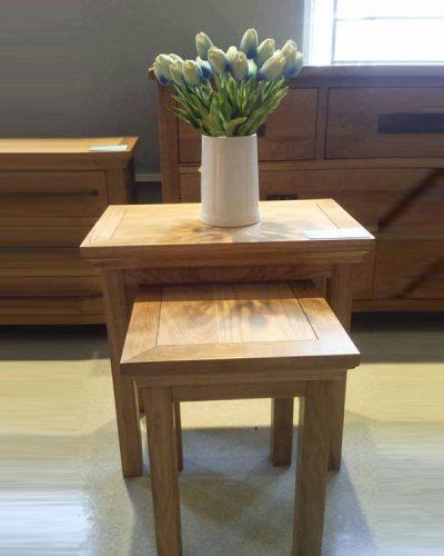 Bộ bàn trang trí nest 2 món làm từ gỗ tự nhiên GHT-602