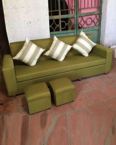 Bộ ghế sofa bọc nỉ phong cách hiện đại dành cho gia đình GHT-809