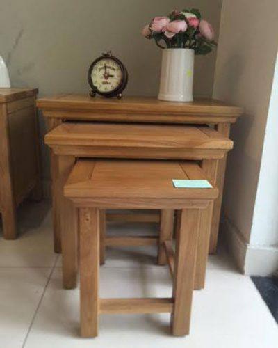 Bộ bàn trang trí nest 3 món trang trí gỗ tự nhiên GHT-601