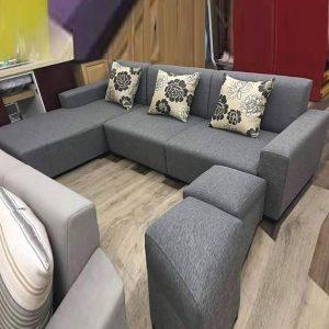 Bộ sofa góc L bọc nỉ phong cách hiện đại GHT-812