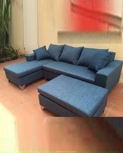 Bộ sofa góc L bọc nỉ phong cách hiện đại GHT-817