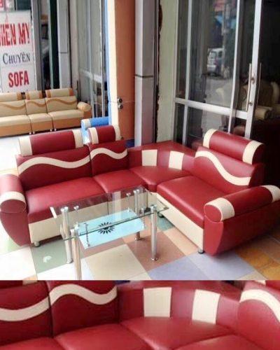 Ghế sofa phòng khách khung gỗ bọc da GHT-803