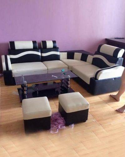 Ghế sofa phòng khách giá rẻ da công nghiệp GHT-804