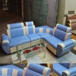 Ghế sofa góc giá rẻ khung gỗ bọc da GHT-805