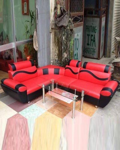 Ghế sofa góc L bọc Da phong cách hiện đại GHT-822