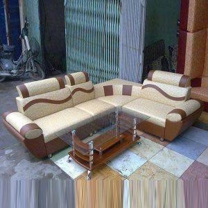 Ghế sofa góc L bọc da phong cách hiện đại GHT-823