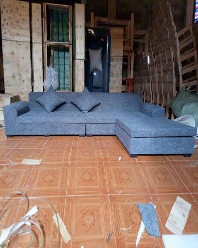Ghế sofa góc L bọc nỉ phong cách hiện đại GHT-816