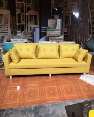 Ghế sofa phong cách Bắc Âu được bọc nỉ GHT-810