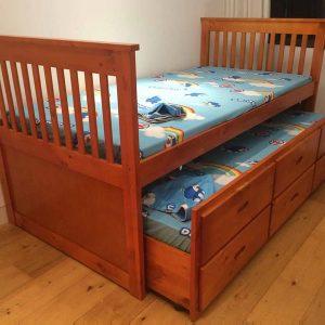 Giường ngủ 2 tầng gấp phong cách hiện đại GHT-906