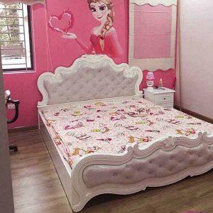 Giường ngủ gỗ phong cách Bắc Âu trang nhã GHT-912