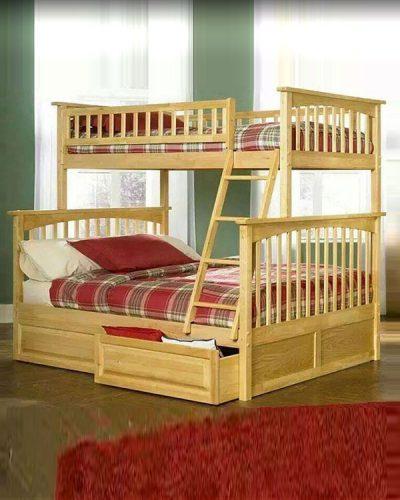 Giường tầng được làm từ chất liệu gỗ tự nhiên GHT-905