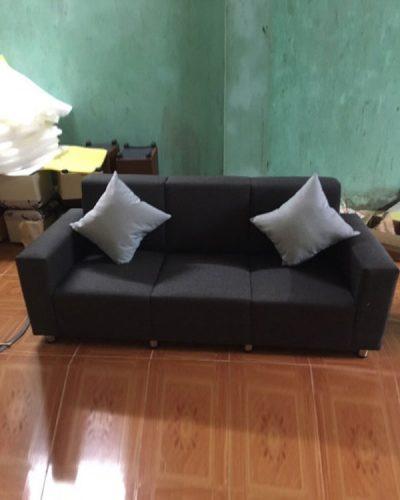 Mẫu ghế sofa dài bọc nỉ cho phòng khách GHT-808
