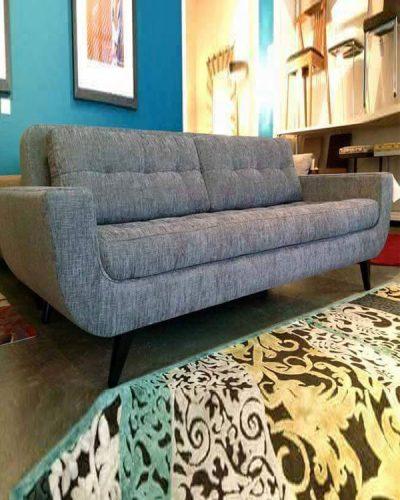 Sofa phòng khách bọc nỉ phong cách Bắc Âu GHT-815