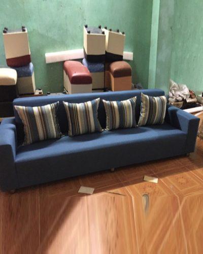 Sofa phòng khách bọc nỉ phong cách hiện đại GHT-807