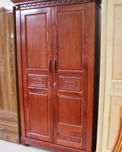 Tủ quần áo gỗ tự nhiên 2 khoang cánh mở GHT-507