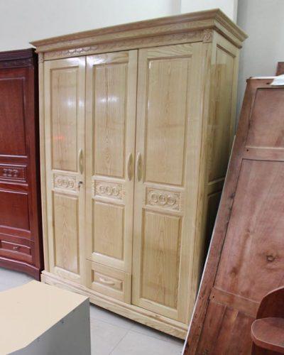 Tủ quần áo gỗ tự nhiên 3 khoang cánh mở GHT-508