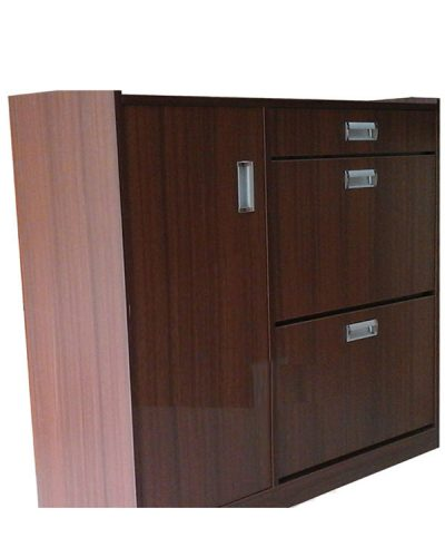Tủ giày gỗ MDF cánh rẻ quạt phủ Melamine GHT-531