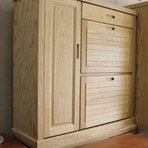 Tủ giày gỗ tự nhiên cánh rẻ quạt GHT-534, đồ gỗ la thành