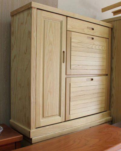 Tủ giày gỗ tự nhiên cánh rẻ GHT-534