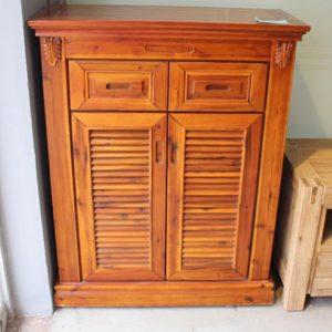 Tủ giày mini gỗ tự nhiên cổ điển GHT-536