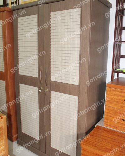 Tủ quần áo gỗ công nghiệp 2 cánh chớp GHT-501