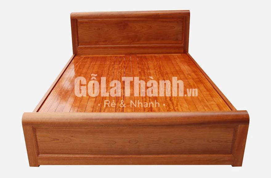 vận chuyển nhanh mẫu giường gỗ tự nhiên màu nâu đỏ