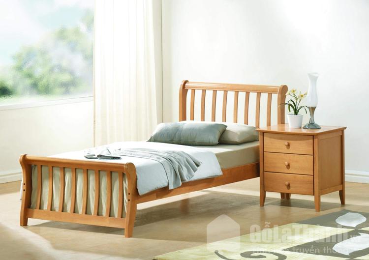 giá giường đơn gỗ tự nhiên
