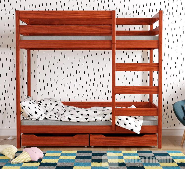 giá giường gỗ hương đỏ