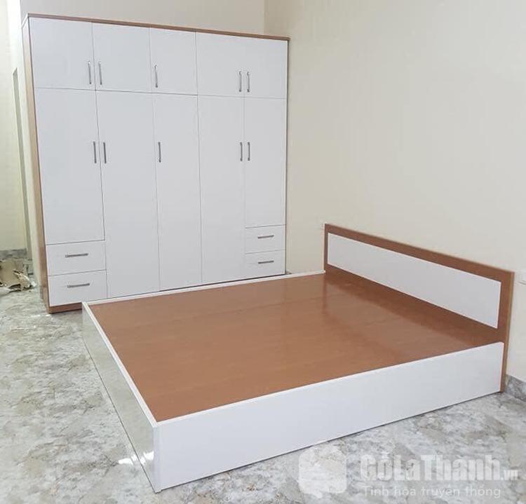 giá giường nhựa sơn giả gỗ