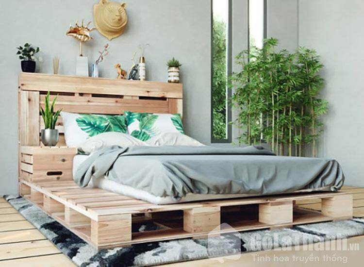 giường pallet gỗ