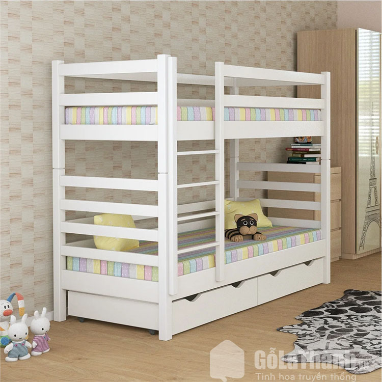 giá giường tầng gỗ tự nhiên