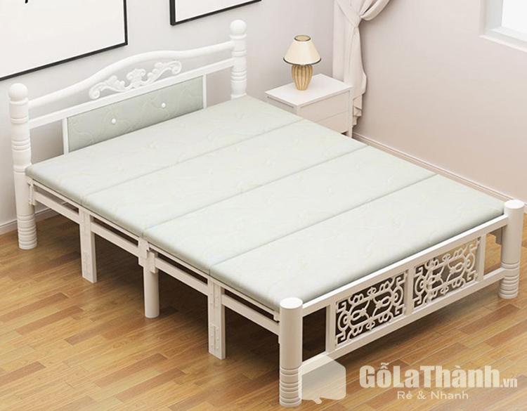 giường gấp cao cấp gỗ tự nhiên có độ bền đẹp cao
