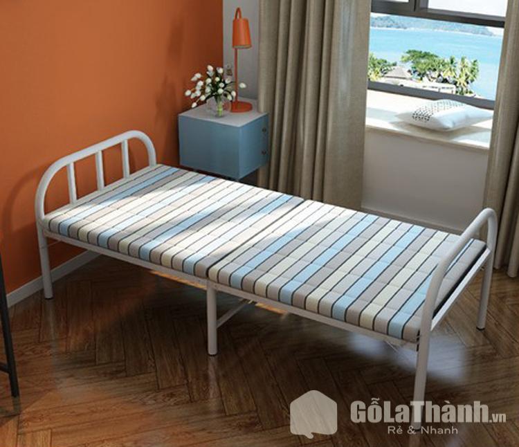 giường gấp đơn cho bé khung sắt