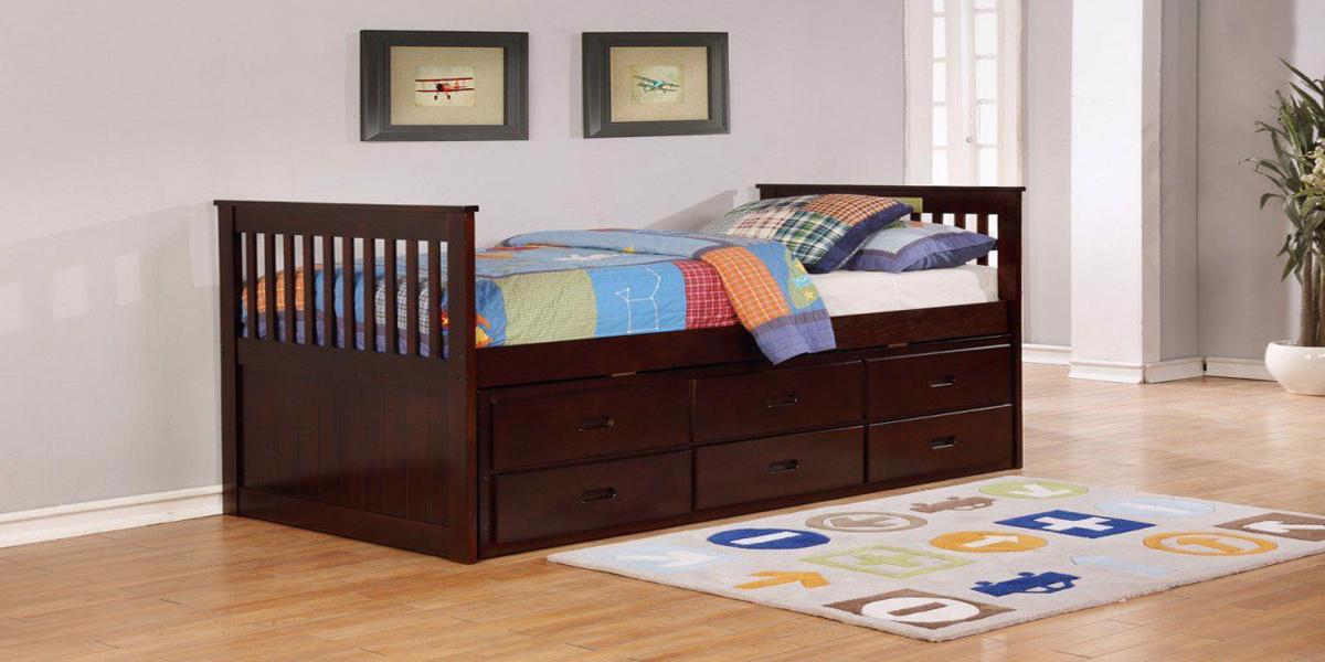 Giường gỗ 1m2 có ngăn kéo tiện ích như thế nào?