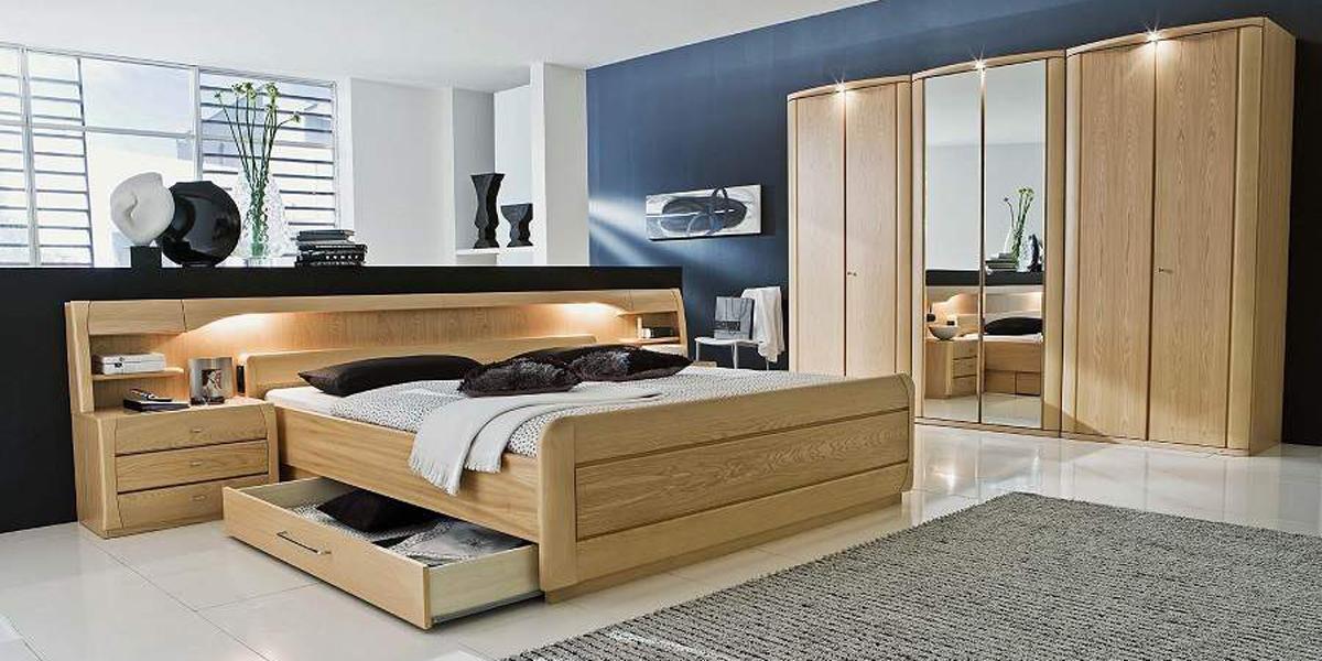 giường gỗ có hộc kéo