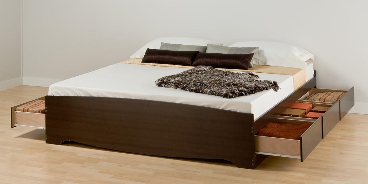 Giường gỗ có hộc tủ – lựa chọn cho phòng ngủ rộng và sang trọng hơn