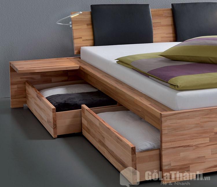 giường gỗ có hộc tủ