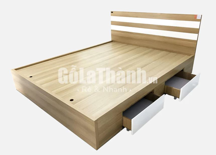 giường hộc kéo bằng gỗ công nghiệp