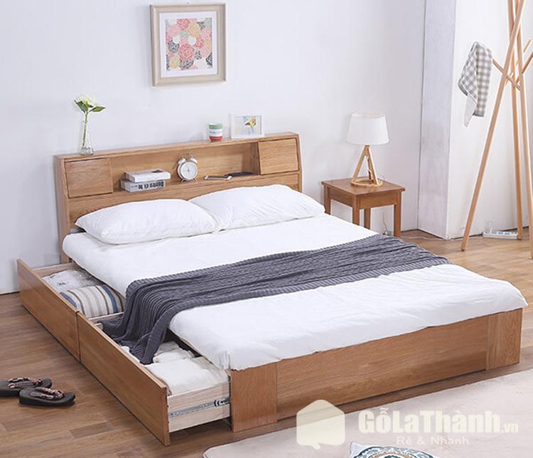 giường hộc kéo bằng gỗ tự nhiên