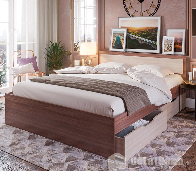 giường có ngăn kéo ở dưới