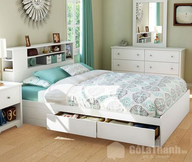 giường ngủ hiện đại màu trắng