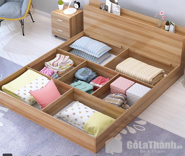 Thiết kế nhiều ngăn chứa đồ bên dưới gầm giường
